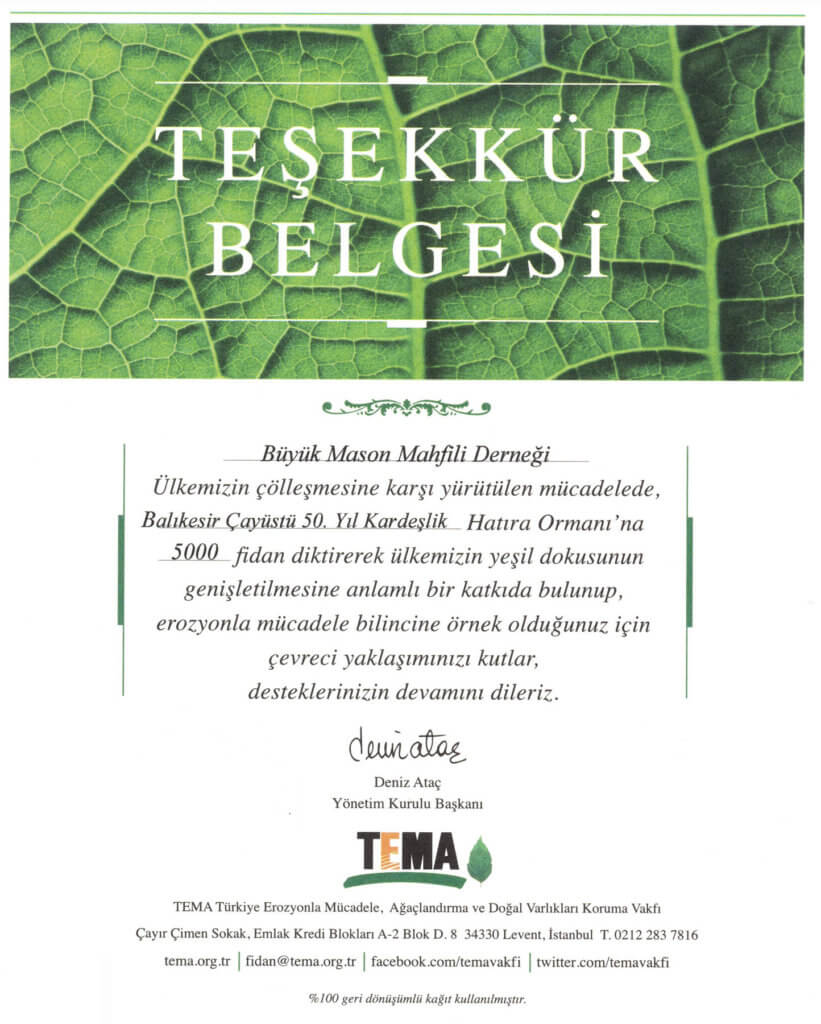 Kardeşlik Ormanı - TEMA